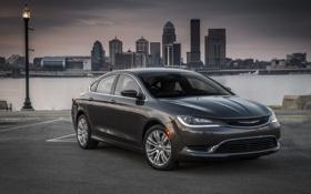 Обои фото, Chrysler, Серый, Автомобиль, 2015, 200 C