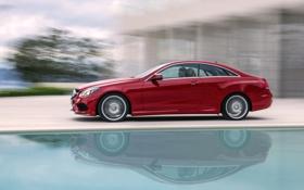 Обои Красный, Авто, Машина, Mercedes, Mercedes Benz, e-class, Купэ
