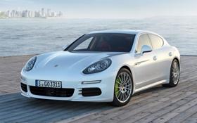 Картинка белый, Porsche, автомобиль, порше, панамера, E-Hybrid, Panamera S