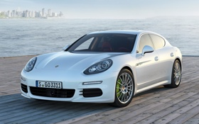 Картинка Panamera S, автомобиль, белый, E-Hybrid, Porsche, панамера, порше