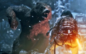 Обои девушка, игра, Square Enix, Xbox One, Rise of the Tomb Raider