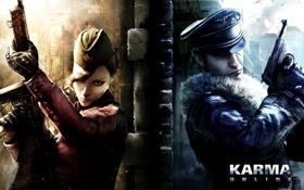 Картинка солдат, девушка, оружие