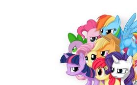 Обои пони, персонажи, смотрят, My little pony, MysticAlpha
