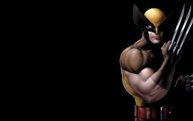 Обои темный фон, Росомаха, Логан, люди икс, Wolverine, Marvel, x-men