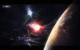 Обои станция, пришельцы, космическая