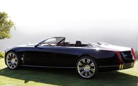 Картинка чёрный, concept, концепт, кабриолет, вид сзади, cadillac, кадилак