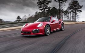 Картинка Красный, Дорога, 911, Porsche, Машина, Скорость, Red
