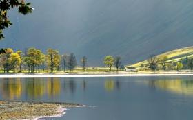 Картинка пейзаж, озеро, гора