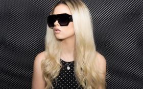 Обои девушка, лицо, стиль, фон, волосы, очки, Megan