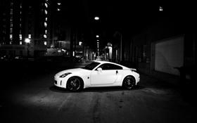 Картинка ночь, city, город, огни, фото, улица, Nissan 350z