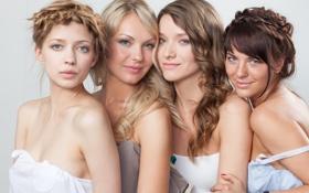 Картинка стиль, портрет, группа, четыре, причёски