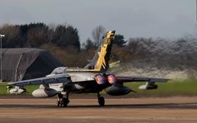 Обои аэродром, истребитель-бомбардировщик, Panavia Tornado
