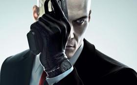 Обои Перчатки, Оружие, Hitman, Square Enix, Пистолеты, Агент 47, Пиджак