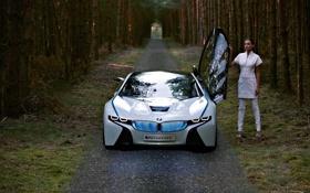 Обои машина, лес, BMW