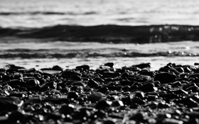 Обои море, вода, солнце, макро, лучи, пейзаж, природа