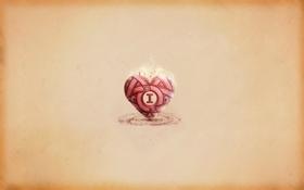 Картинка буквы, креатив, обои, сердце, минимализм, арт, слова
