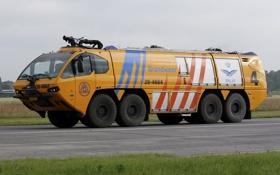 Картинка машина, техника, пожарная, аэродром, аэропорта, Титан HPR-Г, E-Оне