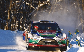 Картинка Гонка, Снег, Ford, WRC, Спорт, передок, Rally