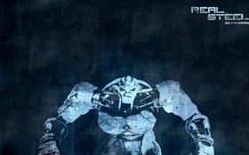 Картинка фон, фильм, робот, живая сталь, real steel