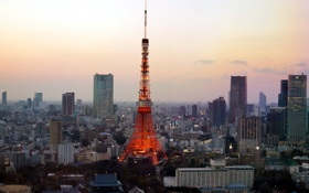 Картинка город, башня, Tokyo