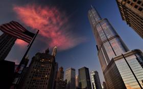 Обои город, небоскребы, Чикаго, США, Иллинойс, Chicago, Illinois