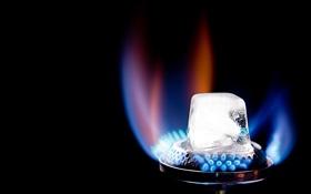 Картинка огонь, лёд, конфорка, photographer, противоположность, Jens Schmidt