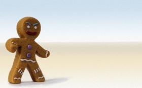 Обои мультфильм, Шрек, Shrek, пряня, печенька