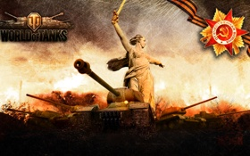 Картинка арт, танки, WoT, ИСУ-152, World of Tanks, Т-34-85, С.Т.В.О.Л.
