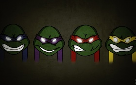 Обои герои, донателло, raphael, teenage mutant ninja turtles, donatello, леонардо, leonardo