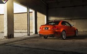Обои BMW, тюнинг, orange, задок, E82, Vorsteiner, тачка
