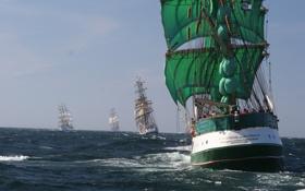 Обои море, океан, обои, корабли, wallpapers, парусники, плаванье