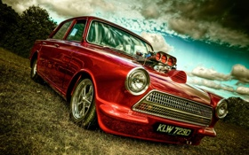 Обои Ford, Mk1, Chevy V8, Cortina