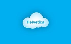 Обои облака, голубой, blue, clouds, helvetica, гельветика