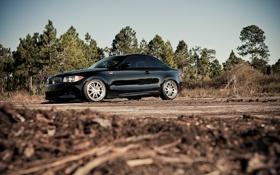 Картинка bmw, black, cars, auto, wallpapers, 135i, обои авто