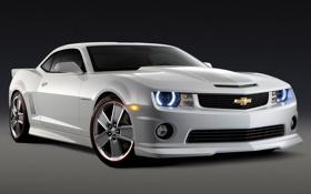 Картинка серебро, Chevrolet, Camaro SS, muscle car