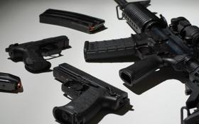 Обои штурмовая винтовка, пистолеты, обоими, оружие