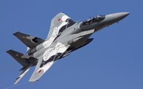 Обои небо, оружие, самолёт, Douglas F-15DJ Eagle
