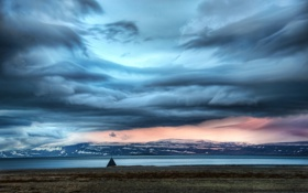 Обои Исландия, Europe, clouds, Iceland, north atlantic, The Weather Station