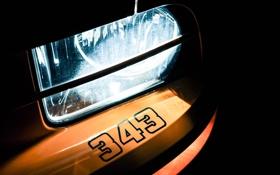 Обои свет, жёлтый, Mustang, Ford, фара, Форд, Мустанг