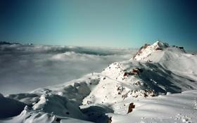 Картинка зима, небо, снег, пейзаж, горы, природа, пейзажи