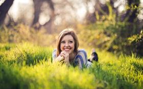 Картинка девушка, улыбка, настроение