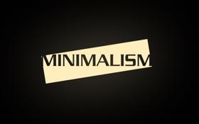Обои минимализм, black, minimalism, черные