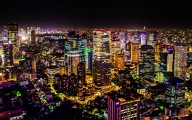 Обои ночь, город, Tokyo