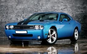Картинка синий, машина, car, wallpaper, blue, обои, dodge