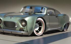 Обои art, old car, concept art, автомобиль