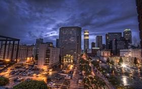 Картинка ночь, lights, огни, калифорния, night, Los Angeles, California