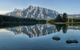 Обои Canada, Two Jack Lake, Morning Glory