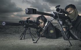 Обои оружие, machine gun, snipers
