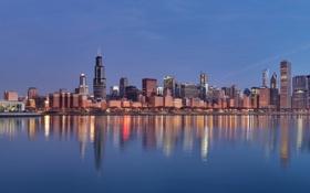 Обои здания, небоскребы, Чикаго, америка, сша