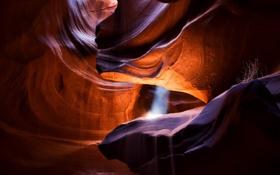 Обои песок, свет, скалы, текстура, Каньон Антилопы